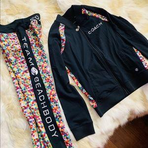 BEACHBODY Coach active jacket leggings set M S